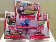 "Disney Pixar ""RSN"" Cora, Timothy, Matthew True Blue 3-Pack Diecast BRAND NEW"