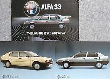 Alfa Romeo 33 1.3 1.5 Cloverleaf Rare Photograph x 2 in Folder circa 1984