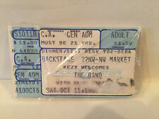 The Band Concert Ticket Stub