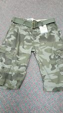 Levis Boys Cargo Shorts Size 16 Camouflage 28 in Waist NWT