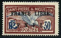 St. Pierre und Miquelon SPM 1941-1942 France Libre 239 Ungebraucht YT 233 RAR