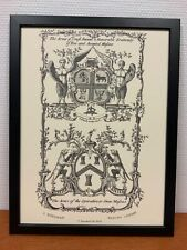 Framed engraving 30x40 cm Freemason Vrijmetselarij The Arms of...