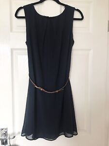 Atmosphere Navy Blue Short Chiffon Dress Suze 12, New With Tags