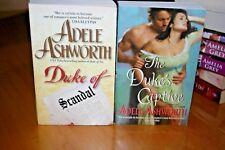 Duke of Scandal/Duke's Captive (2) by Adele Ashworth-VGC Historical Romance