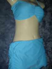 16  TWO PIECE BANDEAU TOP FULL SKIRT PANTS ADJUSTABLE LENGTH BACK CLIP BNWT$25