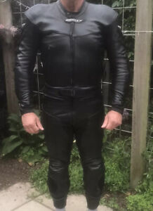 Scott Leathers Two Piece Leather Suit Size UK Chest 38
