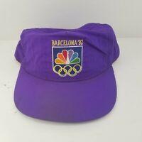 VTG 1992 Purple Barcelona 92 Olympic NBC Peacock Stylemaster Nylon Snapback Hat