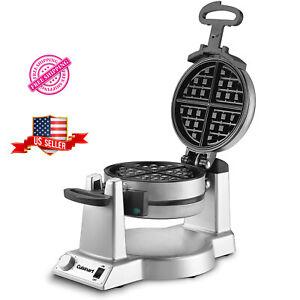 Pro Double Nonstick Belgian Waffle Maker Machine Commercial Baker Breakfast Iron