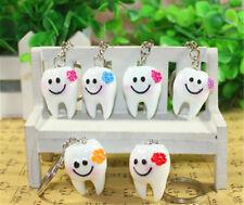 5pcs/set Simulation Cartoon Teeth Key Chains Keyrings Tooth Shape Bag Accessory