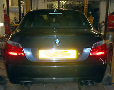 BMW 525 Diesel (E60) Custom stainless steel cat back twin exit exhaust system