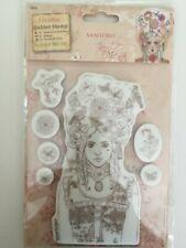 docrafts Santoro London - Willow Rubber Stamp Set - Marie-Antoinette NEW