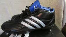 Adidas Mens Regulate IV Mid Metal Rugby Cleats- Size 7 1/2 - Black/Silver/Blue