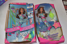 Lot of 2, Barbie Midge, Hot Skatin' & Winter Sport, New in Crushed Box  216