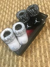 Air Jordan Infant Boys Baby Newborn 2 Pack Booties /Crib Shoes sz 0/6 mo