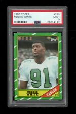 1986 Topps FB Card #275 Reggie White Philadelphia Eagles ROOKIE CARD PSA MINT 9!