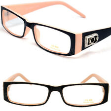 New Womens DG Clear Lens Frames Eye Glasses Rectangular Nerdy Beige Tan Fashion