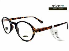 ~LOT OF 2~MIASTO RETRO ROUND KEYHOLE PREPPY READER READING GLASSES+1.50 TORTOISE