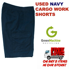 Used Cargo Work Shorts Cintas, Redkap, Unifirst, G&K, Dickies and others Navy