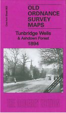 OLD ORDNANCE SURVEY MAP TUNBRIDGE WELLS ASHDOWN FOREST BURWASH LAMBERHURST 1894