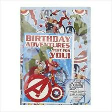 Disney Avengers Wrapping Paper with Birthday Card and Gift Tag