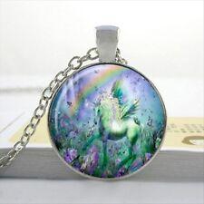 UK RAINBOW FAIRYTALE UNICORN PENDANT NECKLACE Jewellery Gift Idea Girls Kids