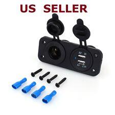 12V Dual USB 2.1A /1A Car Lighter Socket Splitter Charger Power Adapte