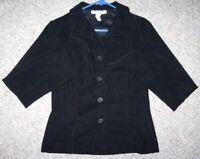 Rampage Dress Blazer Jacket Coat Black Women's 9 Nine Polyester Woman Solid