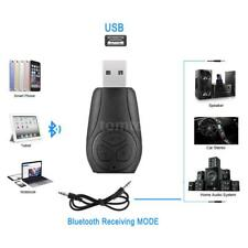 A2DP 3.5mm Car Handsfree Bluetooth4.2 AUX Stereo Audio Receiver Adapter USB J6R5