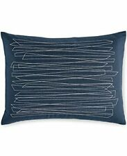 NEW! Calvin Klein Zigzag Overstitch Pillow 15 x 20in Pacific Blue