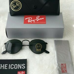 New Ray-Ban RB3447 Round Metal Sunglasses