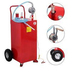 30 Gallon Gas Caddy Tank Storage Drum Gasoline Diesel Fuel Transfer