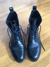 Saint Laurent Paris Black Leather Ranger Boots- EU 44 US 11- Made In Spain
