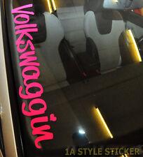 Volkswaggin Aufkleber Frontscheibe Volkswage MK gti nfc I LOVE MY GTI  Sticker