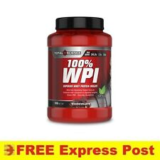 Total Science 100% WPI 1kg Chocolate | Protein Whey BCAA Muscle Recovery Stevia
