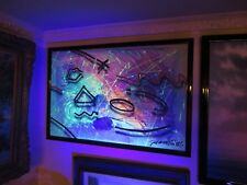 """23x35 original 1986 James Franklin oil and air brush painting """"Obstact Simbals"""""""
