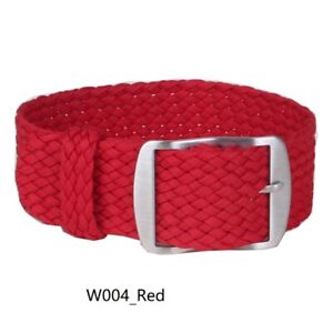 New Solid color 14 16 18 20 22mm Woven Perlon Buckle Watch Strap Band Watchband