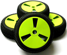 180013 1/8 Scale Off Road Buggy RC Wheels and Tyres Disc Light Green x 4