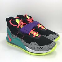 Nike Air Force Max Black Hot Punch Volt New Green AR0974 005 Men Size 8.5