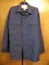 Men's U.S. Military Coast Guard Navy Blue Utility Dress Shirt 38 Long Unworn