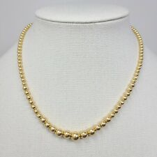 """Estate 14k 585 Yellow Gold ADD-A-BEAD 102 Beads 17.5"""" Necklace 4.4 grams"""