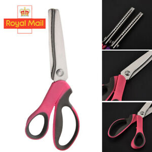 Professional Pinking Shears Tailor Sew Dress Making Scissors Zig Zag Craft UK