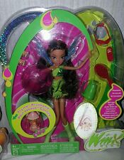 winx club wave 2 pixie magic layla aisha doll 2005 nib mattel