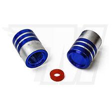 2x cache-soupape en Métal pour pneus de voiture, pneus vélo bleu + Argent