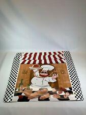 fat chef kitchen vinyl placemats 12 x 18  Italian  set of 4  spaghetti