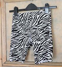American Apparel Short Leggings Zebra Print Size XS