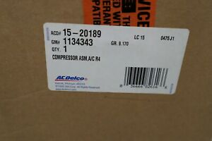 NOS OEM GM A/C Compressor for Buick Cadillac Chevrolet GMC Olds - P/N 1134343