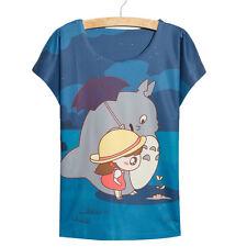 Women Totoro printed Tops cute best friends t shirt loose tops Women's clothing