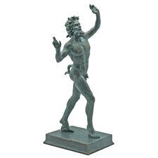 "Large Pompeii Satyr Faunus Bacchus Sculpture Forest God 10.5"" Statue"