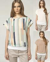Haut top femme T-shirt manches courtes NIFE B40 taille élastique 36 38 40 42 44