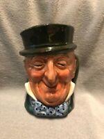 """Mr. Micawber, H:3.25"""", Vintage Royal Doulton Character Mug/Early """"A"""" Mark"""
